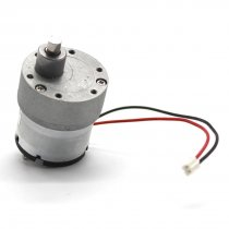 Feichao 37 With Line 500 Geared Motor 6mm D Type Shaft High Torque Metal Gear 6V 12V Slow Speed Motor DIY Electric Toy Accessories