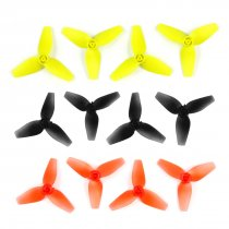 8Pairs CW CCW 40mm Three Leaf Propellers 3-Blade 1.0mm Axis Aperture for Happymodel Mobula7 Mobula 7 716 720 8520 Hollow Cup 0603 0703 Brushless Motor