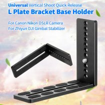 BGNING Universal Vertical Shoot Quick Release L Plate Bracket Base Holder for Canon Nikon DSLR Camera for Zhiyun DJI Gimbal Stabilizer