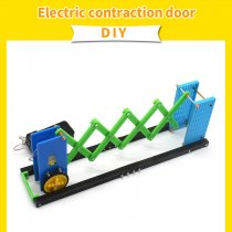 Electric Construction Set DIY Remote Control Shutter Rolling Door Handmade Toys Kids Inventions Science Education Creative Gift