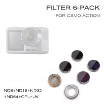 STARTRC ST-1105556 ND Filter 6 Pack Optical Glass Material for OSMO Action Camera ND8/ND16/ND32/ND64/MCUV/CPL