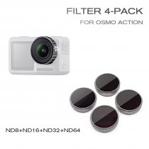 STARTRC ST-1105555 ND Filter 4 Pack Optical Glass Material for OSMO Action Camera ND8/ND16/ND32/ND64