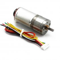 Feichao Encoder 25GA Speed Measuring Gear Motor (6/12V) with Code Wheel High Power Torque Balance Car Motor