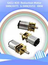 Feichao 2Pcs GA12-N20 Speed Reducer DIY Assembled Smart Car Micro DC Gear Motor Slow Speed Motor