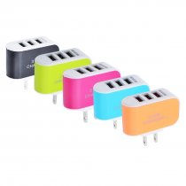 EU/US Plug Wall Charger Station 3 Ports USB Charge LED Charger AC Power Travel Chargers Adapter For iPhone Huawei Xiaomi