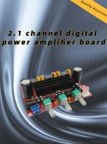 XH-M139 2.1 Channel Digital Audio Amplifier Board Module TPA3116D2 50Wx2+100W 200W Subwoofer Power DC 12~24V