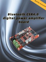 Wireless Bluetooth 4.0 Audio Receiver TDA7492P Digital Amplifier Board Module Power DC 8~25V HIFI Amplificador Component