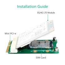 XT-XINTE Mini PCI-E Adapter Card mPCIe with SIM Card Slot for 3G 4G Module USIM Card Slot Extension/WWAN LTE/GPS Card Desktop Laptop