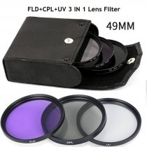 XT-XINTE Camera Filter Set Piece UV CPL FLD 3 in 1 Lens Filter Set Professional Photography Lens Accessory Kit
