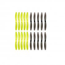 LDARC 65mm-2 Blade Paddle 2.5 inch / 3 inch Aperture 1.5m 10 Pairs of 5 pairs ​Transparent Black 5 pairs ​Bright Green Propellers