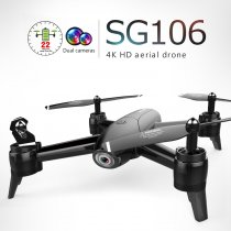 ZLL ​2019 New SG106 Drone with Dual Camera 4K WiFi FPV Real Time Aerial Video Wide Angle Optical Flow MV Fliter Function RC Quadcopter Helicopter Kids Toys Gift