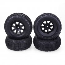 JMT 4PCS/Set Wheel Rim and Rubber Tires Traxxas Slash VKAR 10SC for 1/10 RC Short-Course Truck Car