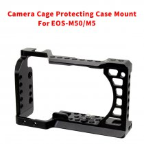BGNING CNC Aluminum Camera Cage for Canon EOS M50 / M5 DLSR Case Cold shoe Mount Expansion Cover Quick-Rease Plate Support Photography