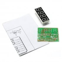 Feichao High Quality C51 4 Bits Electronic Clock Electronic Production Suite DIY Kits C51 Electronic Clock