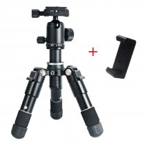 BGNING Mini Camera Tripod Aluminum Photography Camera Phone Small Tripod Mate10 With Phone Clip