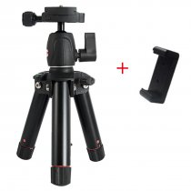 BGNING Portable Mini Ball Head Desktop Tripod SLR Camera Aluminum Mini Tripod MS18 With Phone Clip
