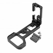 BGNing Aluminum Quick Release L Plate Bracket Holder Hand Grip with Hot Shoe for Sony A7R4 a7R IV A7M4 Camera for DJI Gimbal