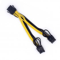 US Stock 10pcs CPU 8Pin to Graphics Video Card Double PCI-E Power Supply Splitter Cable