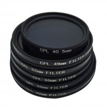 BGNING Universal Camera Lens CPL Polarizer Filter for 49-52-55-58-72-77mmCPL Polarizer
