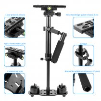 BGNing Universal S60 Aluminum Handheld Stabilizer Adjustable Mount for Phone DV AEE DSLR Video Camera Shooting Shake Shock Bracket