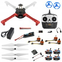 JMT  Full Set T450 DIY RC Quadcopter Kit 450mm Frame KK V2.3 Xcopter Flight Controller T8FB Remote Control DIY Drones for Adults