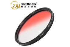 Zomei GC-Red 77mm Red Color Graduated Filter Circle Lens Optical Neutral Density for SLR DSLR 24-70 24-105