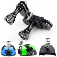 OEM Universal Aluminium 360 Degree Swivel Rotating Tripod Mount Adapter Head Pivot Arm Connector For GoPro Hero 4 3+ 3 SJCAM xiaoyi