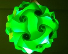 30cm 30Pcs Modern Design PP IQ Light Lamp Shade Combination Flower for DIY Bedroom Ceiling Hanging Lamp Green