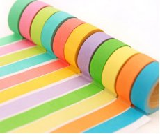 Multifunction Colorful Adhesive Paper Tape Sticker label For DIY handmade Decoration Memo Writing