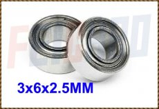 Wholesale F00839-2 2pcs 3x6x2.5 MM Double Metal Shield Bearing For All Align Trex 450 RC Helicopter Toy Plane Model Car