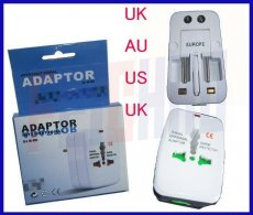 US AU EU UK socket AC Power Charger Adaptor , All in one Universal International Travel Plug Adapter