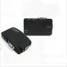 VT-520 AV to VGA TV TO PC Signal TV S-Video Converter Adapter Switch Box