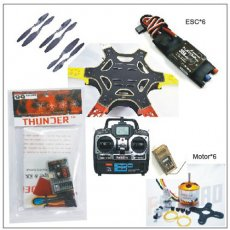 F05114-T F550 Drone FlameWheel Kit With QQ HY ESC Motor Carbon Fiber Propellers + RadioLink 6CH TX RX