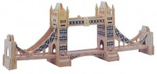 F09647 Wooden 3D Puzzle England Tower Bridge Building DIY Hand-assembled Educational Toys for Children