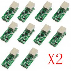 20PCS USRIOT USR-TCP232-T2 Tiny Serial Ethernet Converter Module Serial UART TTL to Ethernet TCPIP Module