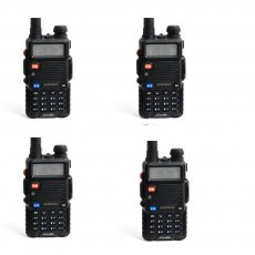 4 Pcs BaoFeng UV5R Dual-Band Two-Way Radio, Black