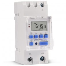 SINOTIMER High Power 7 Days Digital Programmable 220V 30A Guide Rail Timer Switch Controller Transparent Cover for Lamp