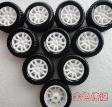 JMT 10Pcs 20*8*1.9mm Rubber Hollow Tire Car Wheel Model Wheels DIY Toy Accessories for Car