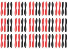 60pcs Propellers H107-A35 Propellers for Hubsan X4 Quadcopter H107L H107C H107D JXD385 X4 Quadcopter Black/Red