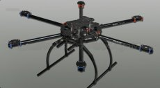 Full Folding Hexacopter Aircraft Frame Aluminum Tubes 6-Axis hexa Copter UFO Kit Tarot FY680 TL68B02