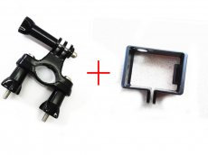 F07505-A OEM Camera Standard Border Frame Mount Protective Housing+ Camera Handlebar Seatpost rack Mount for GoPro HD HE