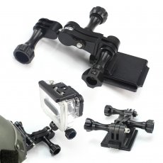OEM Universal Adapter+Helmet Aluminum Fixed Mount+ Screw Nut parts for GOPRO3+/4/5/ SJ/Xiaomi Yi/GitUp Sports Camera