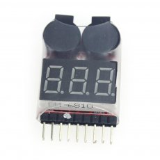 1S-8S Dual Speaker 2 IN 1 LiPo Battery Voltage Checker Indicator Tester LED & low voltage buzzer alarm combo