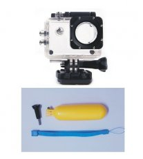 xt-xinte Camera Protective Case Housing Waterproof Case + Floating Handheld Stick Floaty Grib W/ Wrist Strap for SJ4000