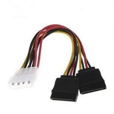 IDE Molex to 2 Serial ATA SATA Y Splitter 4 Pin Hard Drive Power Adapter Cable Cord