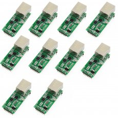 10PCS USRIOT USR-TCP232-T2 Tiny Serial Ethernet Converter Module Serial UART TTL to Ethernet TCPIP Module