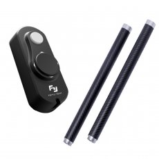 OEM Feiyu Wired Remote Control + 2X Carbon Fiber Extention Reach Pole Rod Tube for FY-G4 Handheld Gimbal Steady Gop