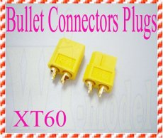 XT60 Bullet Connectors Plugs For RC Battery
