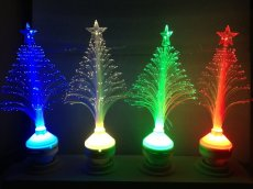 Colorful LED Fiber Optic Christmas Tree Lamp 7 Color Automatically Change Night Light For Home Festival Decoration