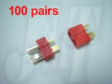 100Pairs Dean Connector T plug For Rc Helicopter ESC Lipo Li-po Battery
